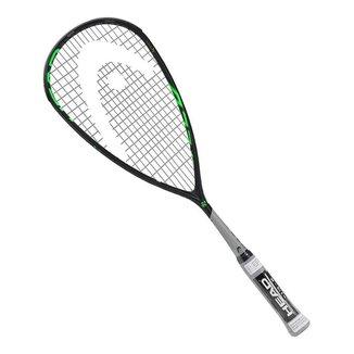 Raquete de Squash Head Graphene 360+ Speed 120 Preta Cinza e Verde