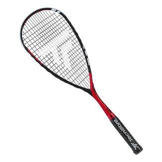 Raquete de Squash Tecnifibre Carboflex Crosspower Vermelha Preta e Branca