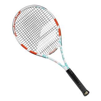Raquete de Tênis Babolat Evoke 102 W 270g Branca Laranja e Azul