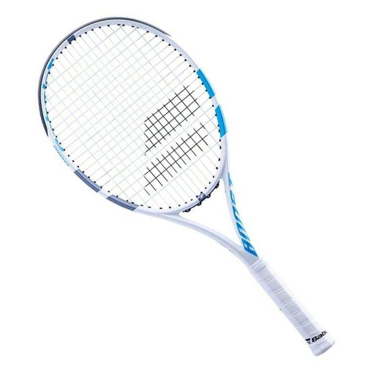 Raquete de Tênis Boost Drive Woman 16x19 260g Modelo 2021 - Babolat - Branco+Azul