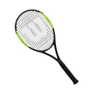 Raquete de Tênis Wilson Blade Feel 100 Com Corda Cor:Preto/Verde;Tamanho:L3(4 3/8);Peso:0.5;