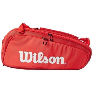 Raqueteira Super Tour 15r Vermelha - Wilson