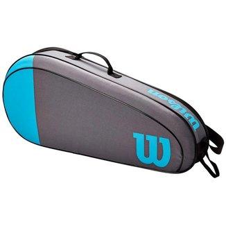 Raqueteira Team 3R Azul e Cinza Modelo 2021 - Wilson