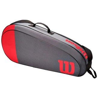Raqueteira Team 3R Vermelha e Cinza Modelo 2021 - Wilson