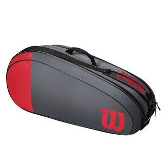 Raqueteira Team 6R Vermelha e Cinza Modelo 2021 - Wilson