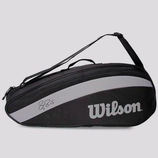 Raqueteira Wilson Federer Team Preta