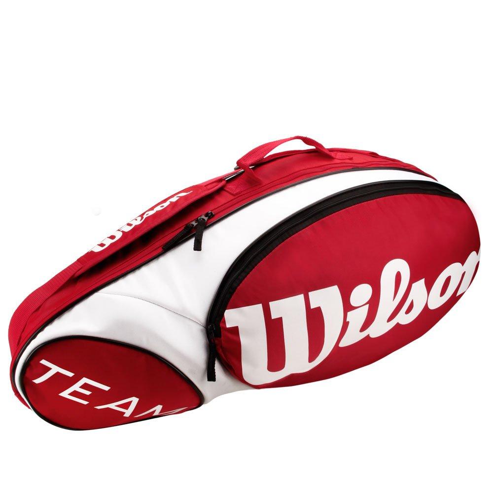 1635f824f Raqueteira Wilson Team X3 Vermelha e Branca - Compre Agora
