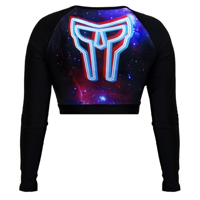 Rash Guard Guard Cropped Cropped Preto Spartanus Galaxy Rash Fightwear Spartanus Fightwear AxBFUAw