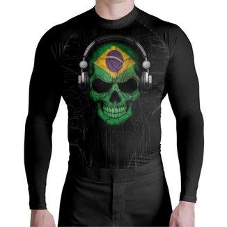 Rash Jiu Jitsu Skull Brasil Atlética