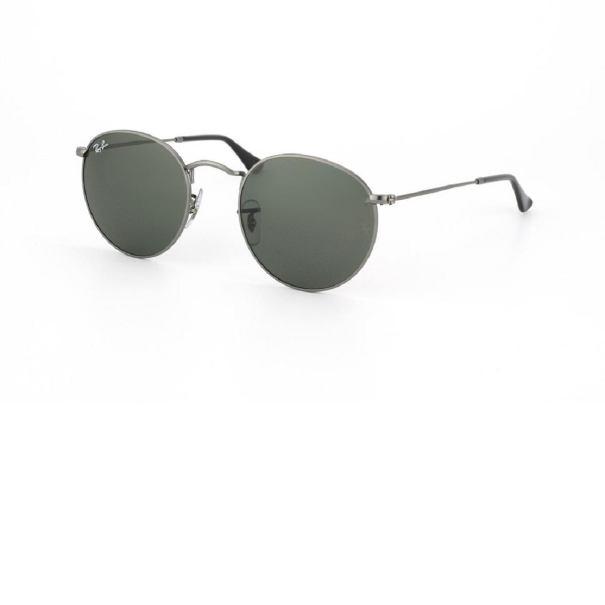 Ray Ban Round Metal RB3447L 029 Óculos de Sol - Prata - Compre Agora ... 30b1605856