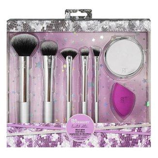 Real Techniques Disco Glow Kit – Pincéis de Maquiagem+ Esponja + Espelho Kit