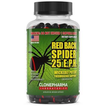 Redback Spider 25 E.P.H. (60 Caps) – Clone Pharma