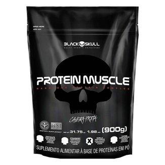 Refil Protein Muscle 900g Black Skull