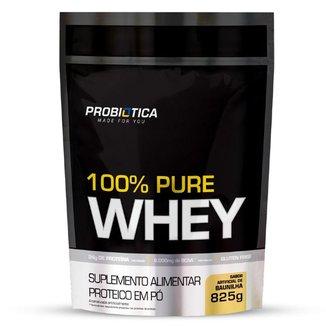 Refil Whey 100% Puro 825g Probiotica Sabor Baunilha