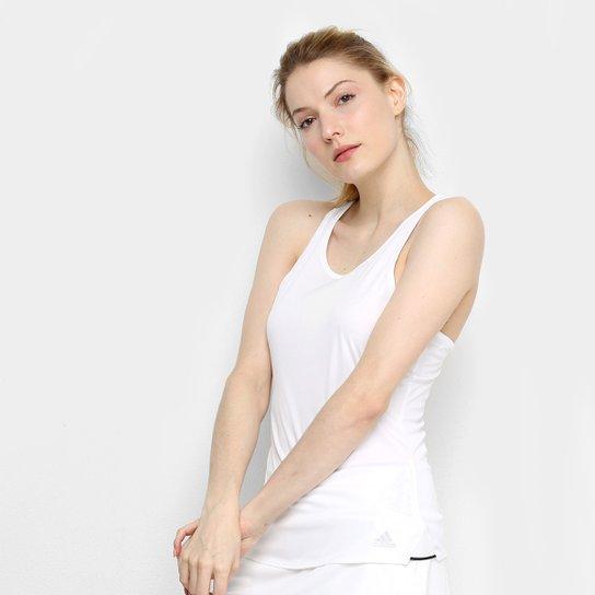 Regata Adidas Club Feminina - Branco+prata