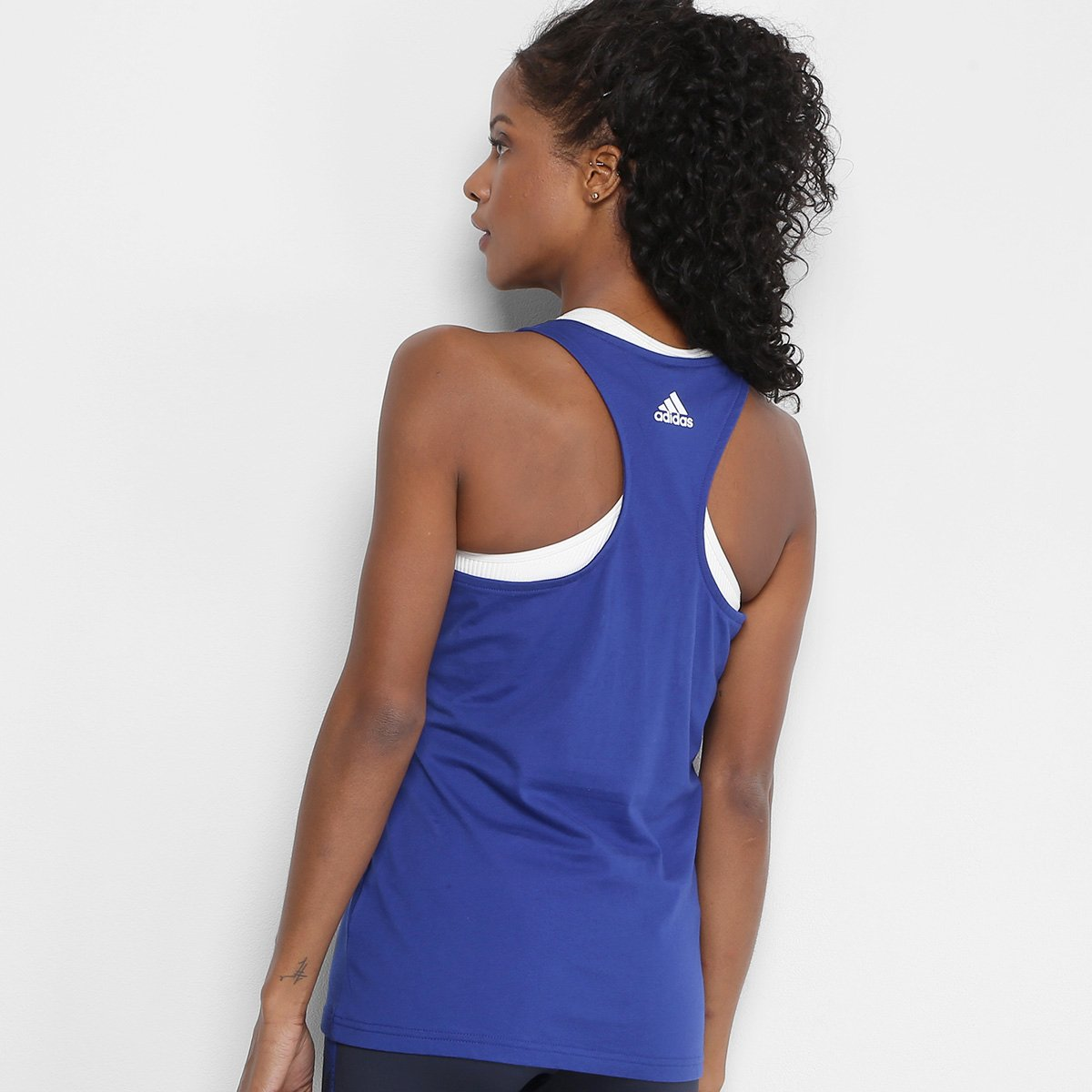 Regata Adidas Essentials Li Sli Tank Feminina - Pink e Branco ... c5ce4353c61b0
