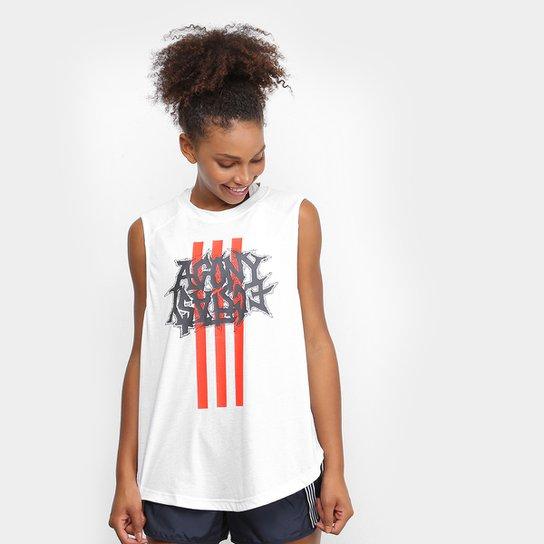 Regata Adidas Fast Gfx Feminina - Branco
