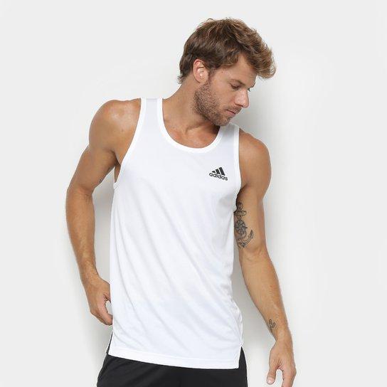 Regata Adidas Sport Tank Masculina - Branco+Preto