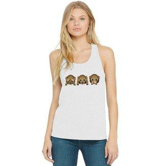 Regata Feminina Emoji Macacos ES_187