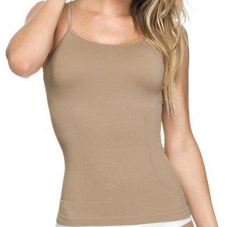 Regata Feminina Modeladora Slim Sem Costura Regata Underwear