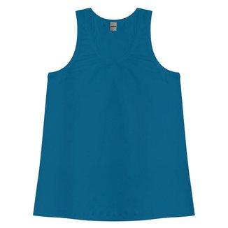 Regata Feminina Viscotorcion Básica Rovitex Azul M