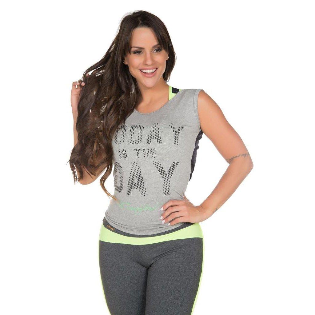 Brasil Fit Power Regata Training Cinza Today Fit Feminina Regata PwqIqzH