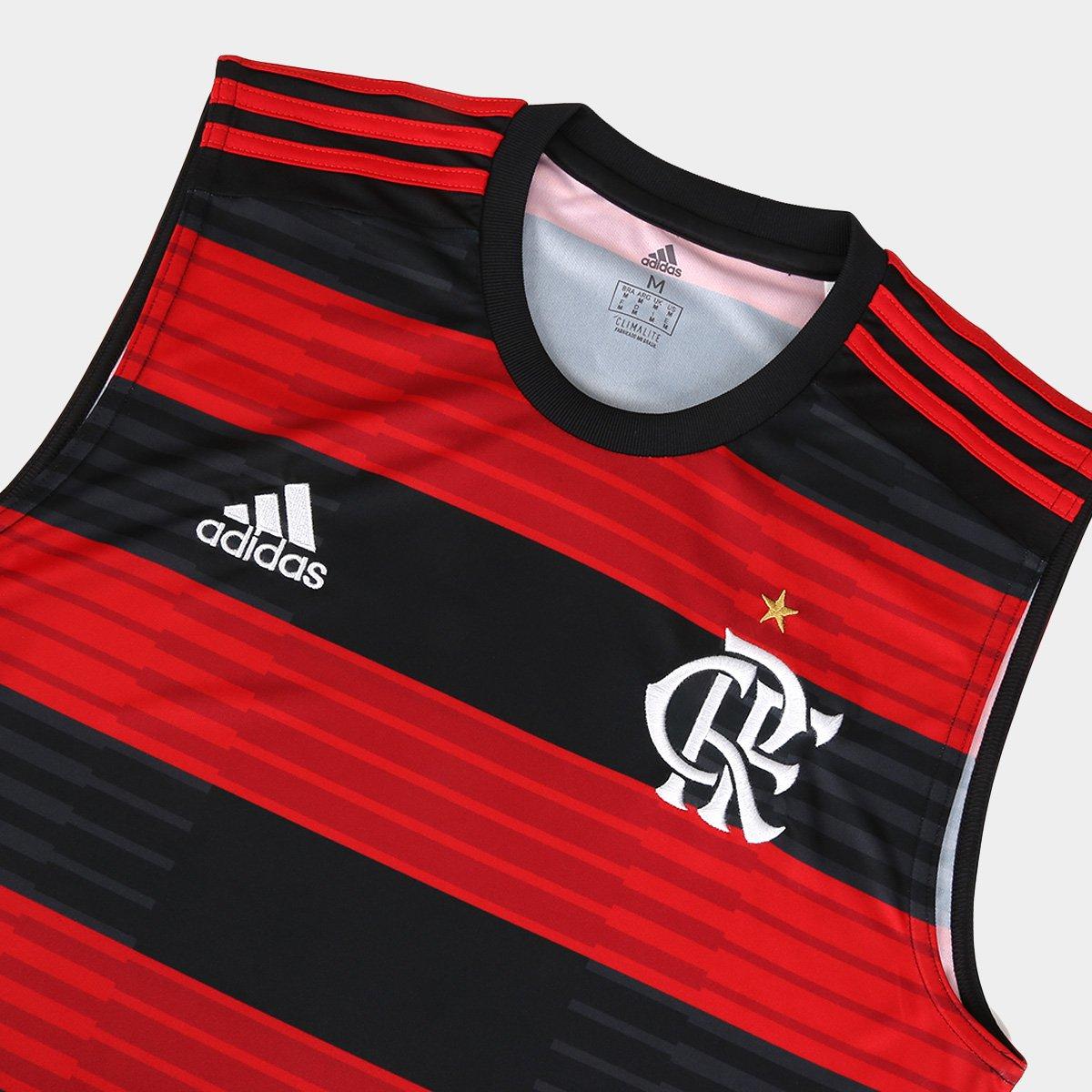... Regata Flamengo I 2018 Torcedor Adidas Masculina - Vermelho e Preto . 7412a131bac61