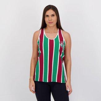 Regata Fluminense Bit Feminina Vinho e Branca