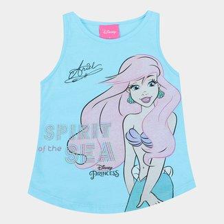 Regata Infantil Disney Ariel Com Glitter Feminina