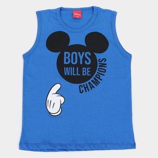 Regata Infantil Disney Mickey Boy Will Be Champions Masculina