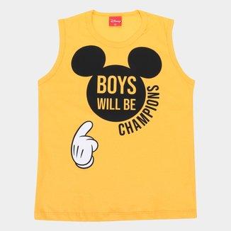 Regata Infantil Disney Mickey Boys Will Be Champions Masculina