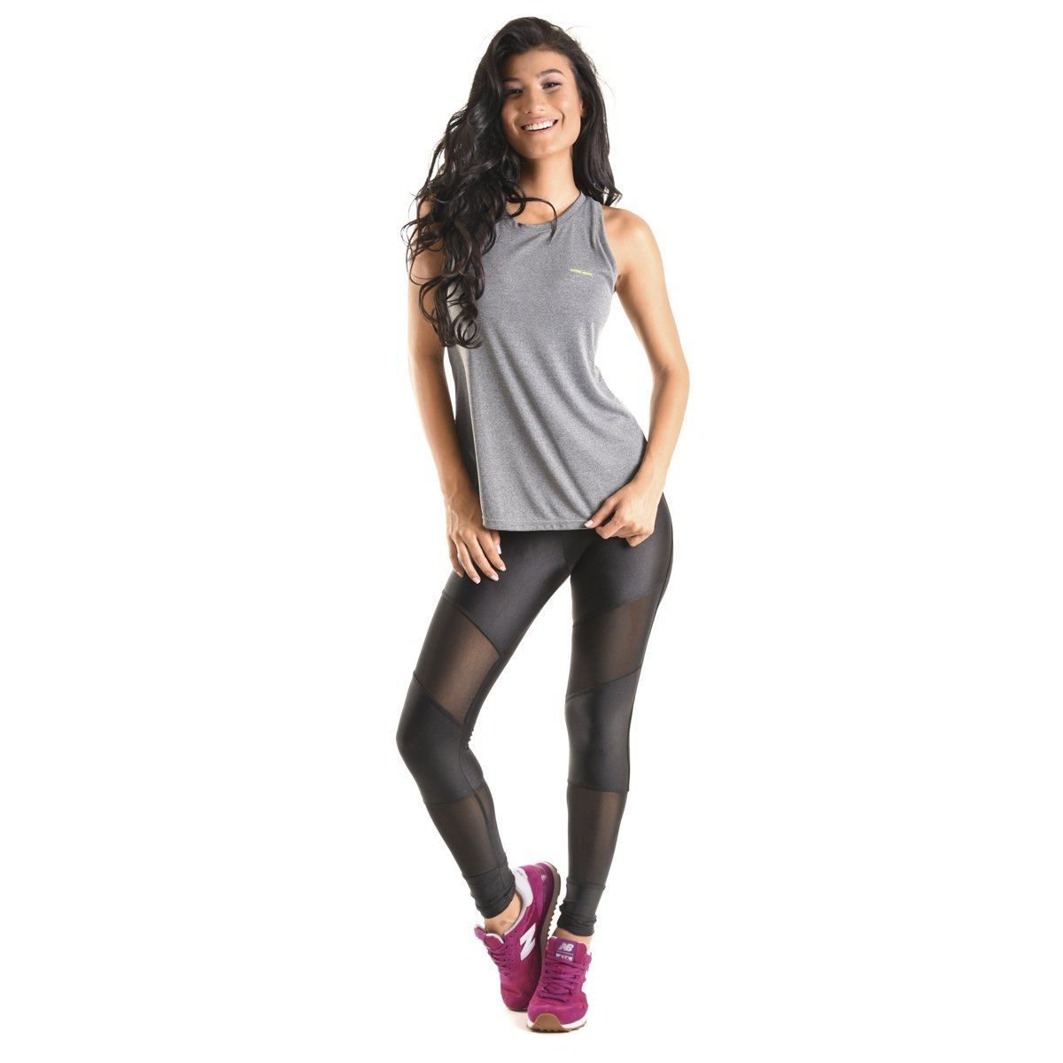 Mama everyday Cinza Latina Simple Fit Fit Regata Latina Simple Mama Regata Xw1zq1