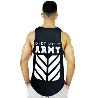 Regata Masculina De Treino Tradicional Army Ii Preto