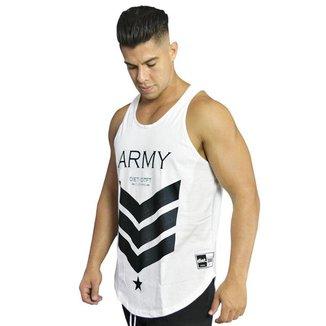 Regata Masculina de Treino Tradicional Army XXI Branca Branco M