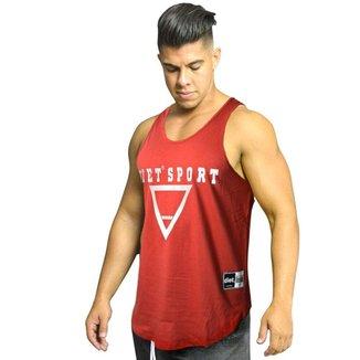 Regata Masculina de Treino Tradicional Diet Sport XXI Vermelha Vermelho G