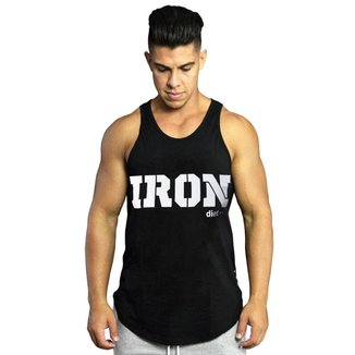 Regata Masculina de Treino Tradicional Iron XXI Preta Preto G