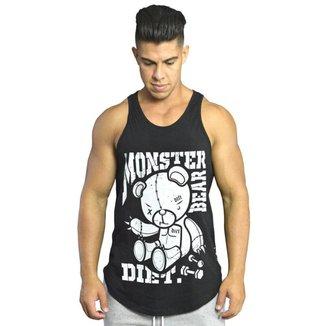 Regata Masculina de Treino Tradicional Monster VF XXI  Preto G