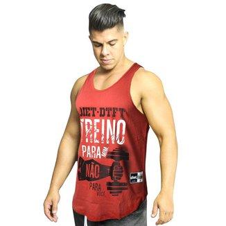 Regata Masculina de Treino Tradicional Treino para Mim XXI Vermelha Vermelho GG