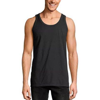 Regata Masculina Lisa Básica Camisa Tradicional Cavada Top Slim Fitness - Cinza - EGG - Homem