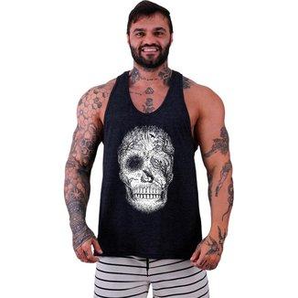Regata Menos Cavada   MXD Conceito Forest Skull Masculina