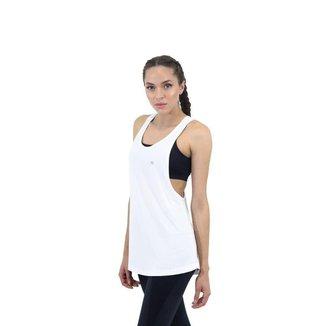 Regata Movement Feminina Branca FIT ROOM fitness Academia Treino Corrida Caminhada Esporte