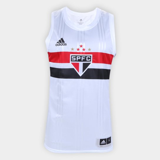 Regata NBB São Paulo Home Adidas Masculina - Branco