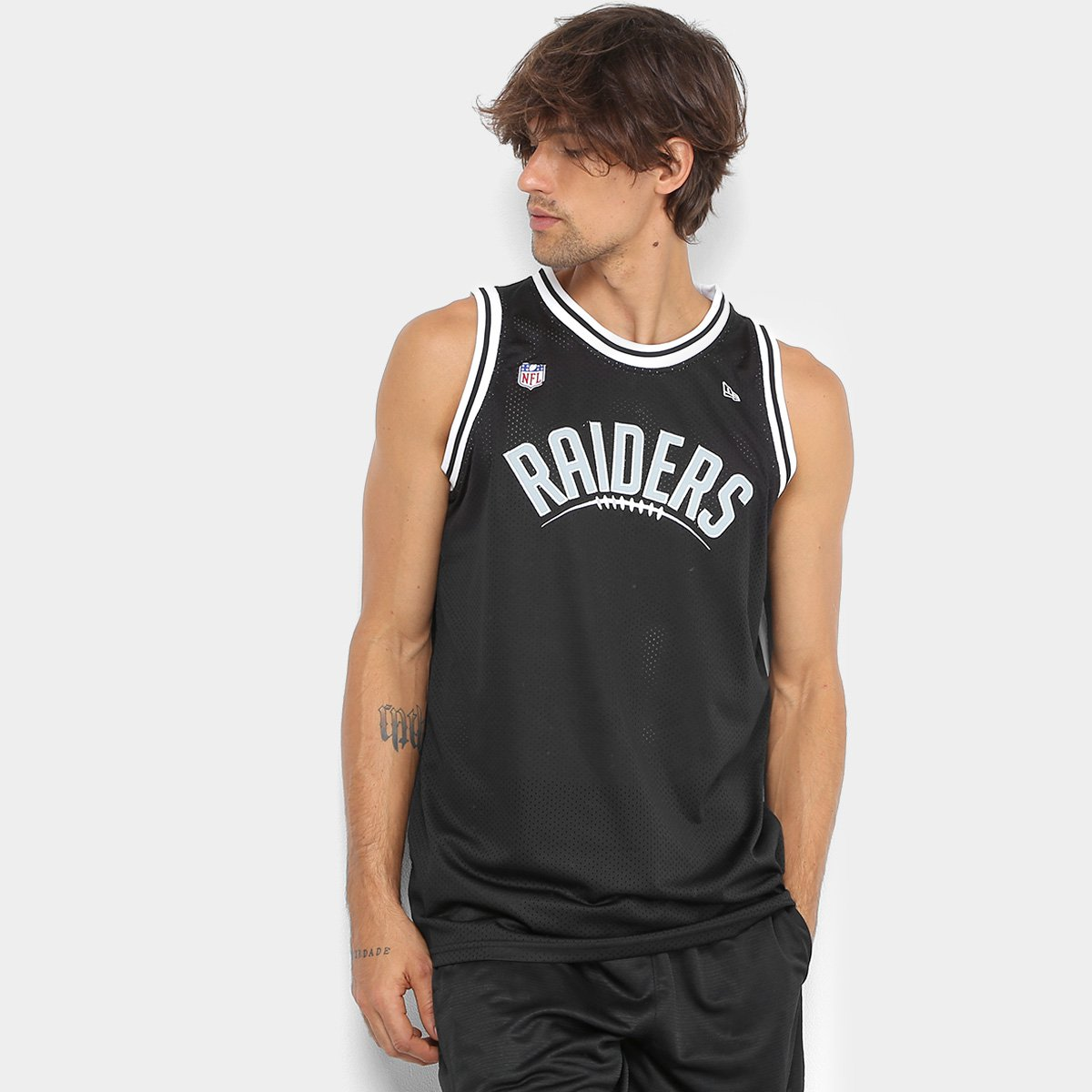 Regata NFL Oakland Raiders New Era Sports Vein Masculina - Preto - Compre  Agora  a08eb8aeeb12b