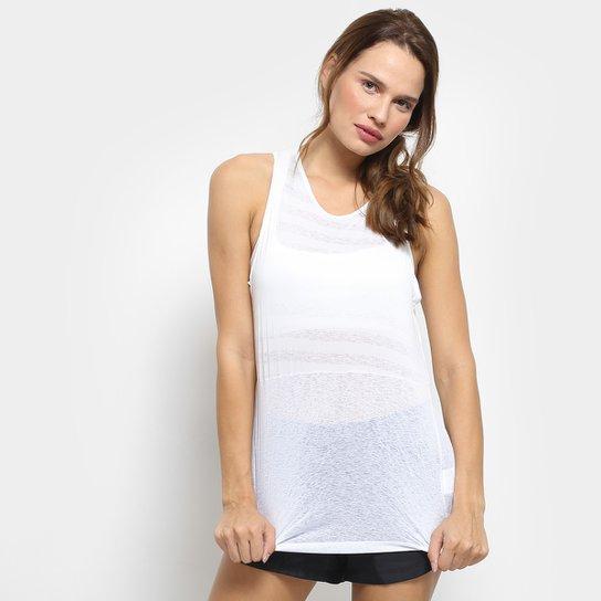 Regata Nike Breathe Stripe Feminina - Branco+prata