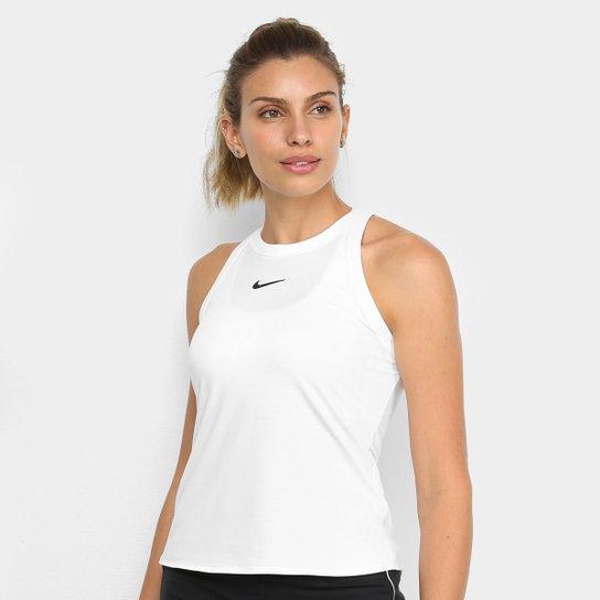Regata Nike Court Dry Tank Feminina - Branco+Preto