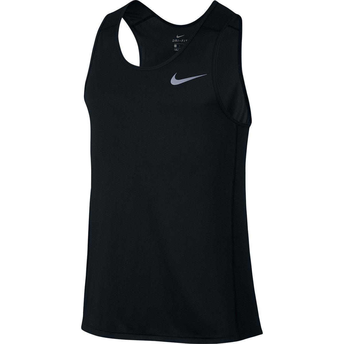 Regata Nike Dri-Fit Miler Masculina - Preto - Compre Agora  20417e91a09