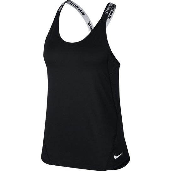 Regata Nike Dry Elastka Feminina - Preto+Branco
