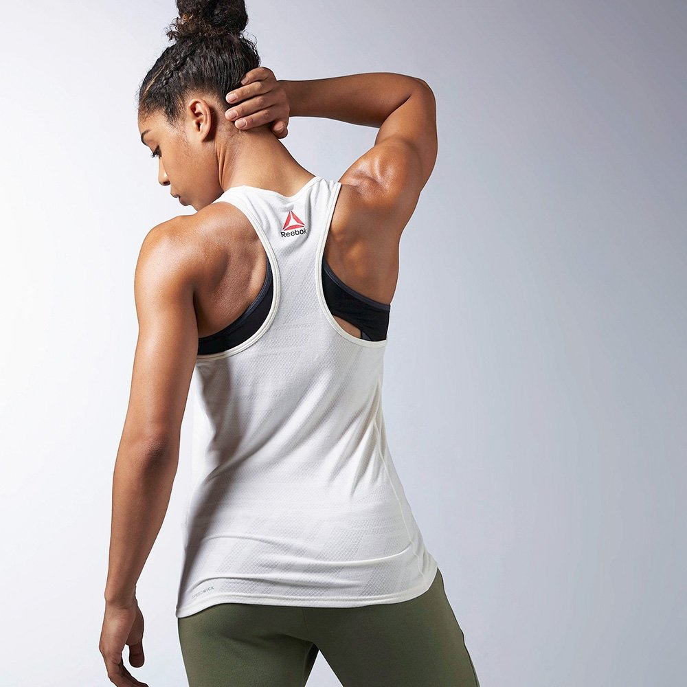 Burnout Series Tank Branco Regata Regata Reebok Reebok One IqwHXgx1