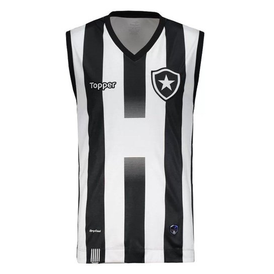 Regata Topper Basquete Botafogo I 2017 - Preto+Branco