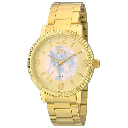 Relógio Allora Feminino AL2035FKH/K4A + Colar e Brincos - Dourado